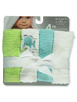 4-Pack Washcloths by Bon Bebe in Green