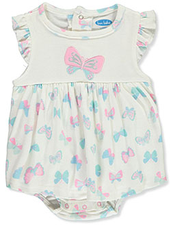 Butterflies Dress/Bodysuit Combo by Bon Bebe in Multi