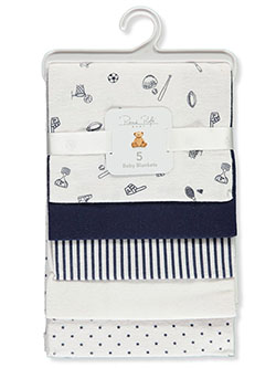 Baby Boys' 5-Pack Baby Blankets by Rene Rofe in Multi