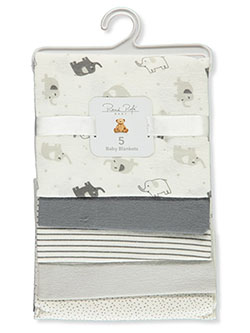 Unisex Baby 5-Pack Baby Blankets by Rene Rofe in Multi