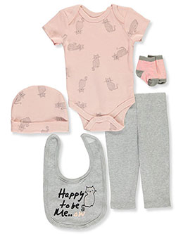 Baby Girls' 5-Piece Gift Set by Rene Rofe in Multi - $18.00