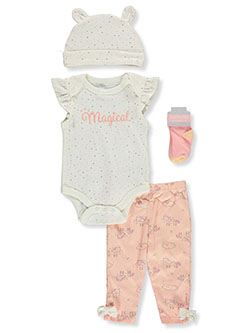Magical 4-Piece Layette Set by Always Loved in Multi