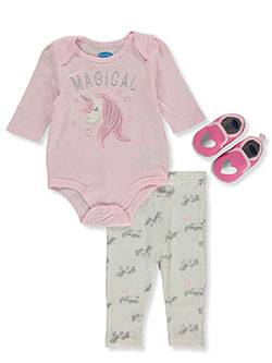 Baby Girls' Magical 3-Piece Layette Set by Bon Bebe in Multi