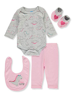 Mega Cutie 4-Piece Layette Set by Bon Bebe in Multi