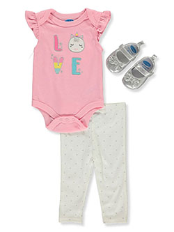 Unicorn Love 3-Piece Layette Set by Bon Bebe in Multi
