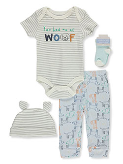 Baby Boys' Woof 4-Piece Layette Set by Always Loved in Multi