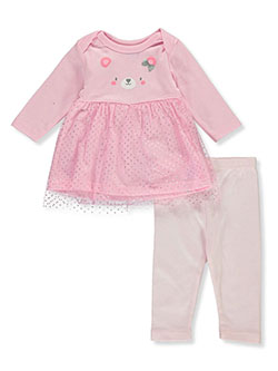Bear Face 2-Piece Leggings Set Outfit by Bon Bebe in Multi, Infants