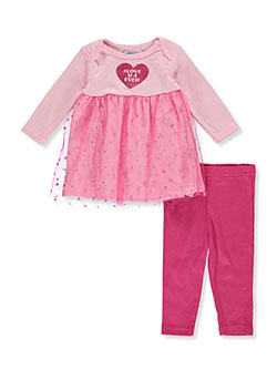 Heart 2-Piece Leggings Set Outfit by Bon Bebe in Multi, Infants