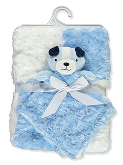 Plush Swirl Blanket & Toy Set by Bon Bebe in Multi, Infants