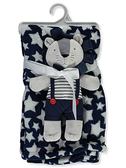 Plush Print Blanket & Stuffed Animal Set by Bon Bebe in Multi, Infants