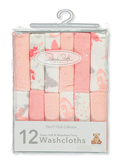 Baby Girls' 12-Pack Washcloths by Rene Rofe in Multi