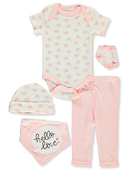 Baby Girls' 5-Piece Layette Gift Set by Rene Rofe in Multi - $10.99