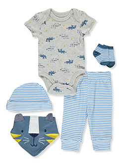 Baby Boys' 5-Piece Layette Gift Set by Rene Rofe in Multi