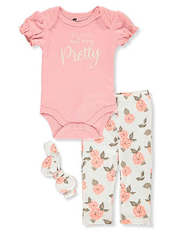 Baby Girls' 3-Piece Layette Set by Bon Bebe in Multi
