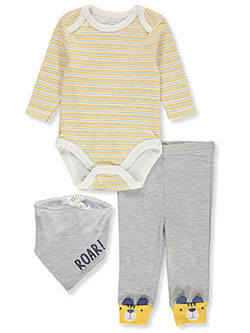 Baby Boys' Love 3-Piece Layette Set by Bon Bebe in Multi, Infants