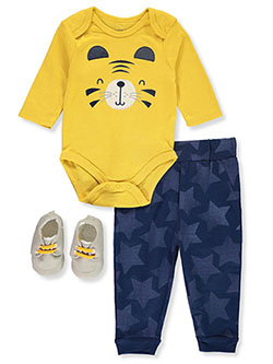 Baby Boys' 3-Piece Tiger Layette Set by Rene Rofe in Multi