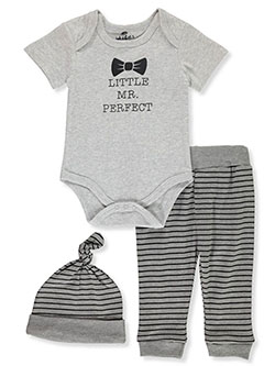 Baby Boys' 3-Piece Layette Set by Bon Bebe in Multi