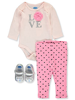 Baby Girls' 3-Piece Layette Set by Bon Bebe in Multi, Infants