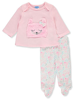 Plush Cat 2-Piece Pants Set Outfit by Bon Bebe in Multi, Infants