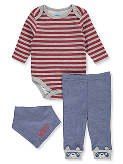 Baby Boys' Wild 3-Piece Layette Set by Bon Bebe in Multi
