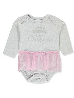 Baby Girls' Queen Tutu Bodysuit by Bon Bebe in Multi, Infants