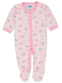 Baby Girls' Floral Footed Coverall by Bon Bebe in Multi, Infants
