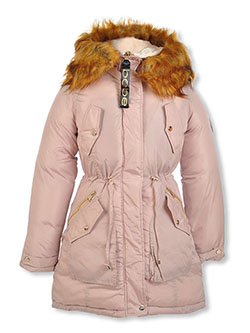 Girls' Snap Pocket Insulated Parka by Bebe in Sand