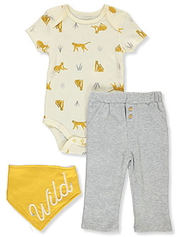 Wild 3-Piece Layette Set by Duck Duck Goose in Multi