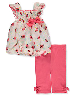 Ladybug 2-Piece Leggings Set Outfit by Bon Bebe in Multi