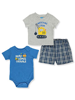 Construction 3-Piece Layette Set by Bon Bebe in Multi