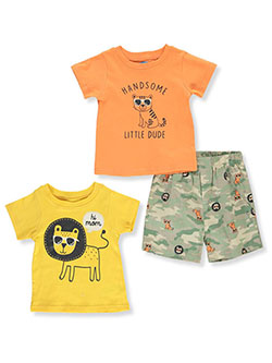 Baby Boys' Lion 3-Piece Mix-n-Match Set by Bon Bebe in Multi
