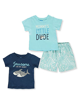 Baby Boys' Shark 3-Piece Mix-n-Match Set by Bon Bebe in Multi