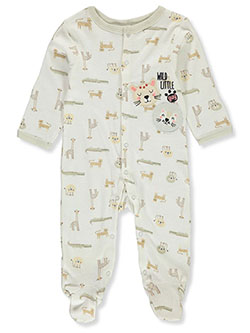 Wild Little Guy Footed Coveralls by Rene Rofe in Multi