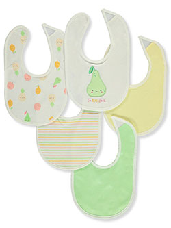Baby Unisex 5-Pack Bibs by Rene Rofe in Green - Bibs