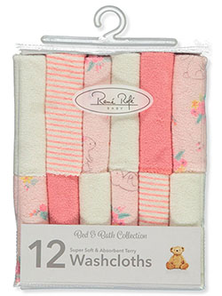 Baby Girls' 12-Pack Washcloths by Rene Rofe in Pink - $8.00