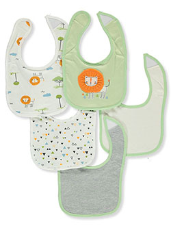 Baby Boys' 5-Pack Bibs by Rene Rofe in Green/multi - Bibs