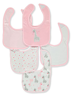 Baby Girls' 5-Pack Bibs by Rene Rofe in Pink/multi - Bibs