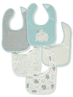 Baby Boys' 5-Pack Bibs by Rene Rofe in Mint - Bibs