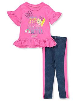 Girls' 2-Piece Leggings Set Outfit by Jojo Siwa in Fuchsia