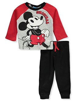 Mickey and the Roadster Racers Original 2-Piece Sweatsuit Pants Set by Disney in Gray/red