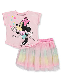 Minnie Mouse 2-Piece Tutu Skirt Set Outfit by Disney in Pink/multi