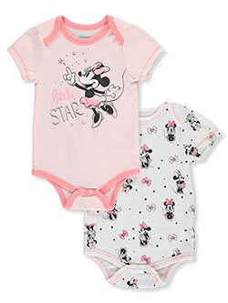 Little Star 2-Pack Bodysuits by Disney Minnie Mouse in Pink