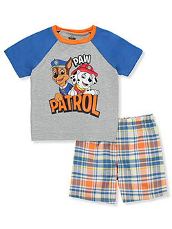 Boys' Raglan 2-Piece Shorts Set Outfit by Paw Patrol in Gray/multi, Sizes 2T-4T