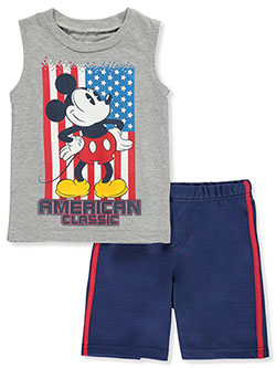 Mickey Mouse American Classic 2-Piece Shorts Set Outfit by Disney in Multi