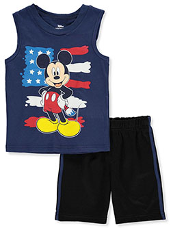 Mickey Mouse Paint Flag 2-Piece Shorts Set Outfit by Disney in Multi