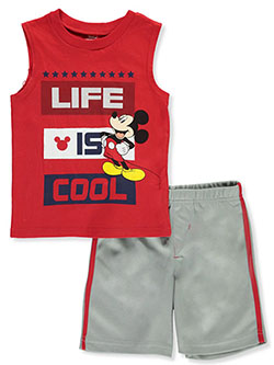 Mickey Mouse Cool 2-Piece Shorts Set Outfit by Disney in Multi