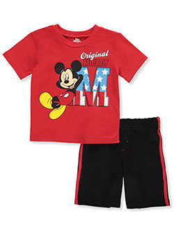 Mickey Mouse Flag M 2-Piece Shorts Set Outfit by Disney in Multi