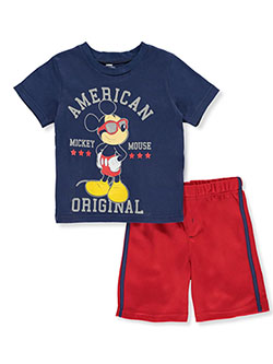 Mickey Mouse Sunglasses 2-Piece Shorts Set Outfit by Disney in Multi