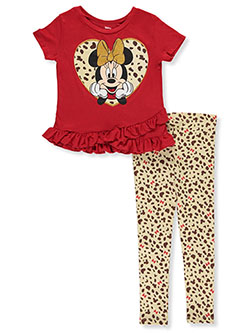 Minnie Mouse Leopard 2-Piece Leggings Set Outfit by Disney in Multi