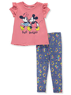 Minnie Mouse Best Friends 2-Piece Leggings Set Outfit by Disney in Multi